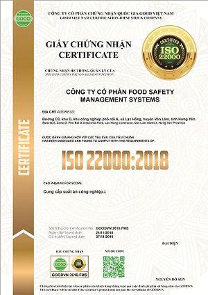 Giấy chứng nhận được công nhận Quốc tế